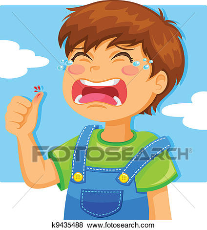 Crying kid Clip Art.