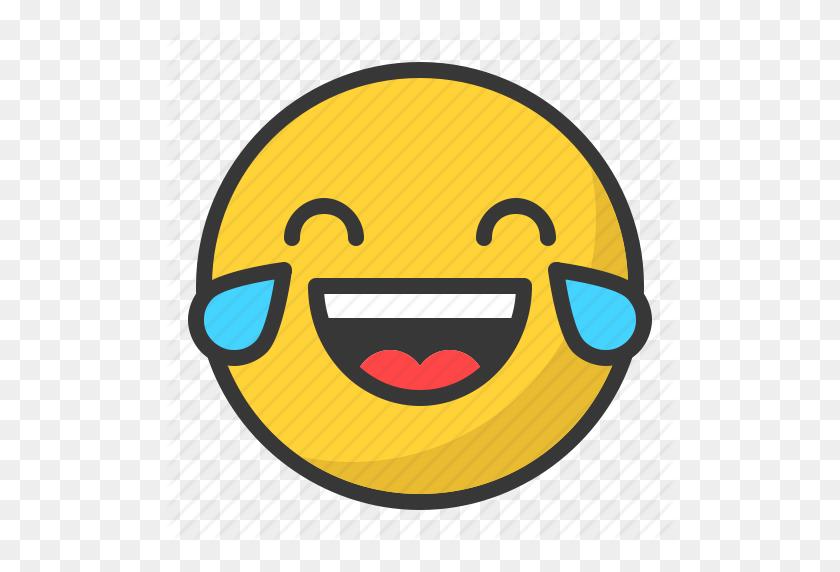Cry, Emoji, Emote, Emoticon, Emoticons, Laugh Icon.