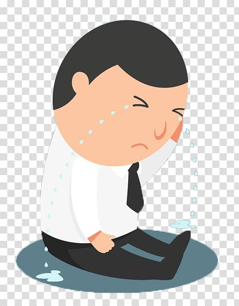 Man crying , Crying Cartoon Sadness, Crying man transparent.