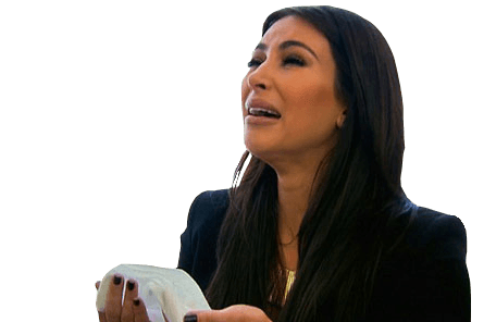 Download Free png crying up kim kardashian.