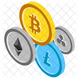 Cryptocurrency Coins Icon.