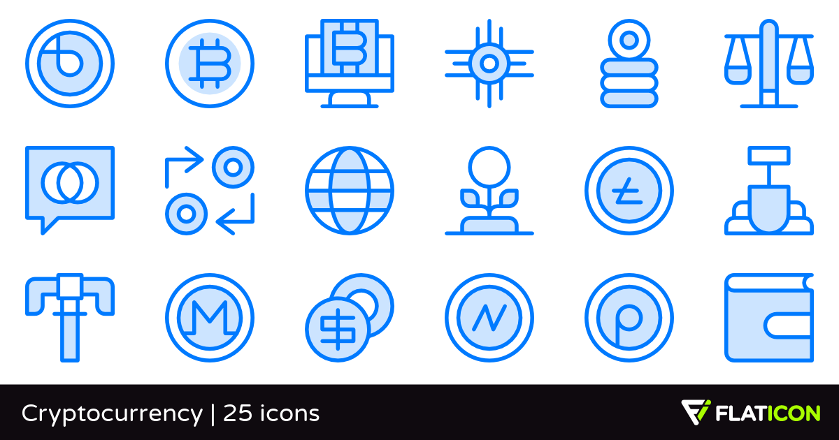 Cryptocurrency 25 free icons (SVG, EPS, PSD, PNG files).