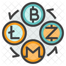 Exchange Cryptocurrency Icon.