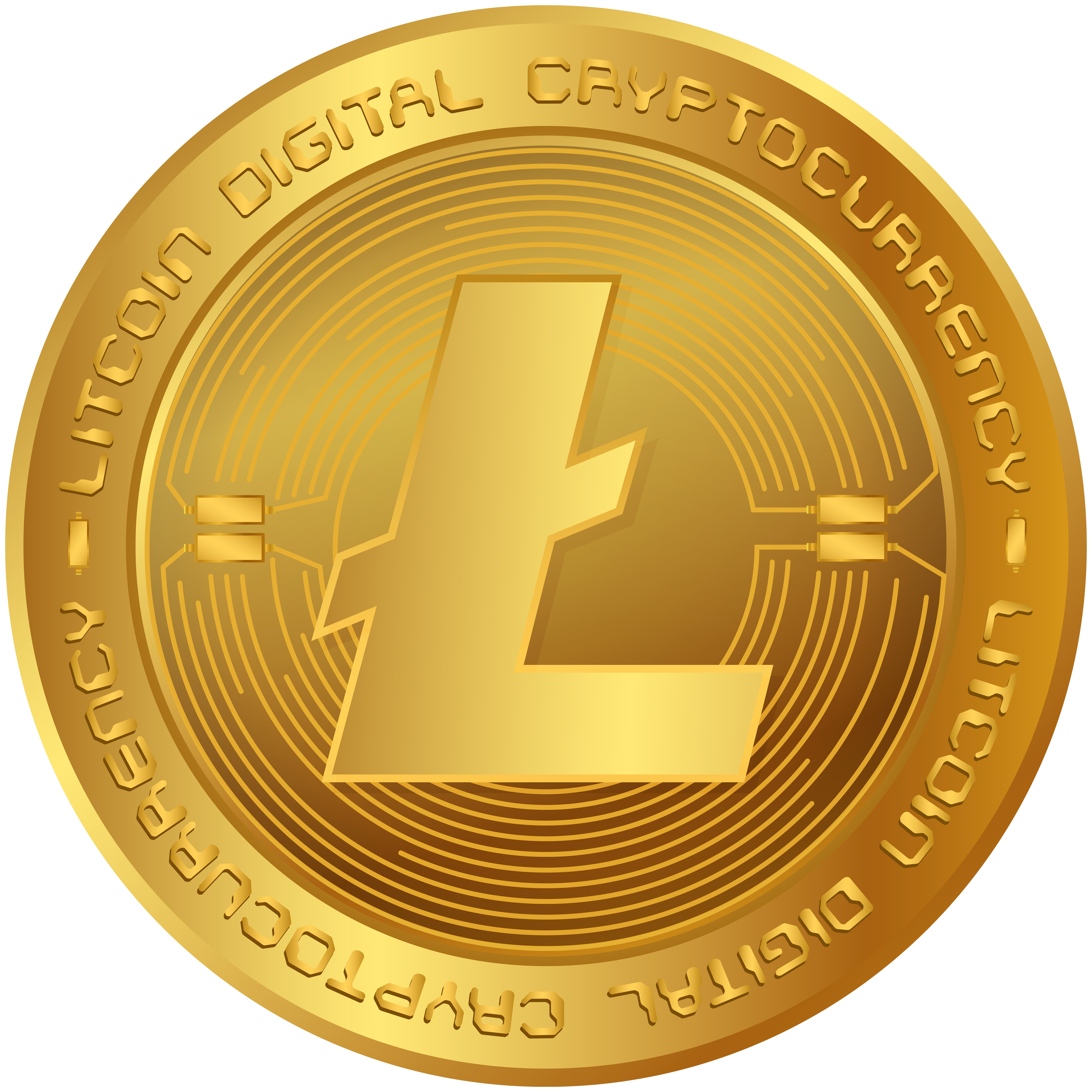 Litecoin LTC Cryptocurrency PNG Clip Art Image.
