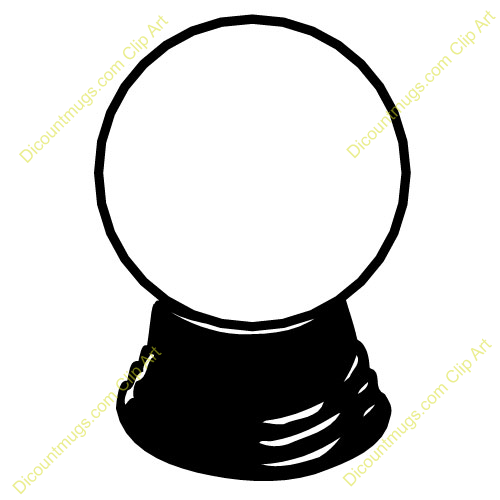 Crystal ball cartoon clipart.