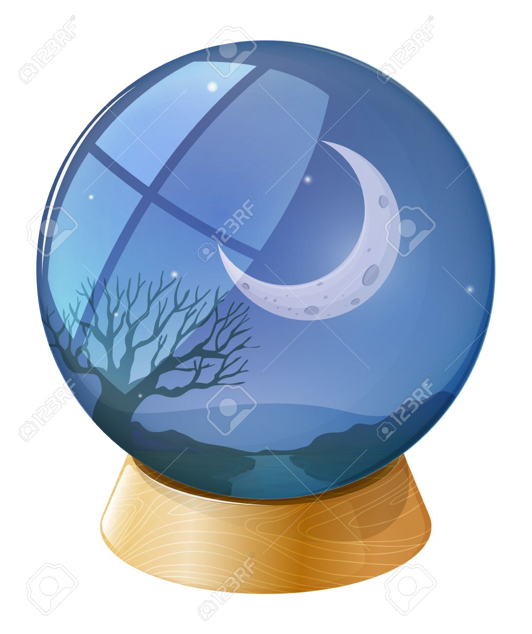 Crystal ball clipart no background.