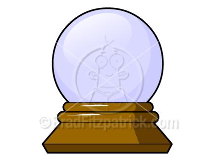 Cartoon Crystal Ball Clipart.
