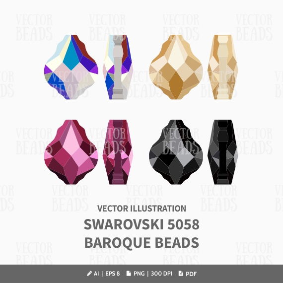 vector beads graphics, jewels vector clipart.