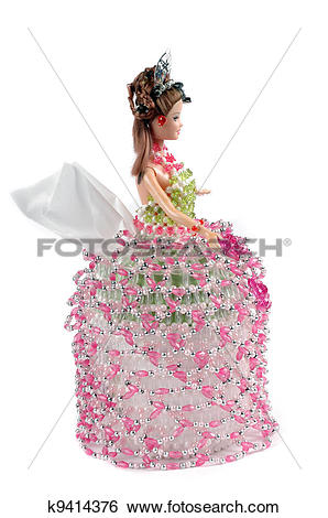 Stock Images of hand towels shaped craft dolls made of plastic.
