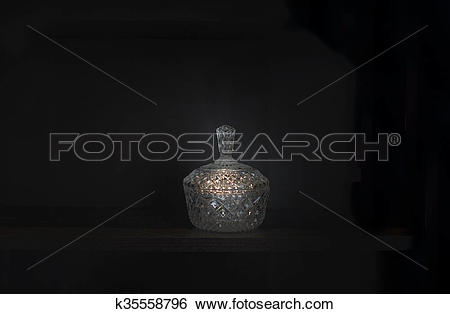 Stock Images of Crystal bowl with lid k35558796.