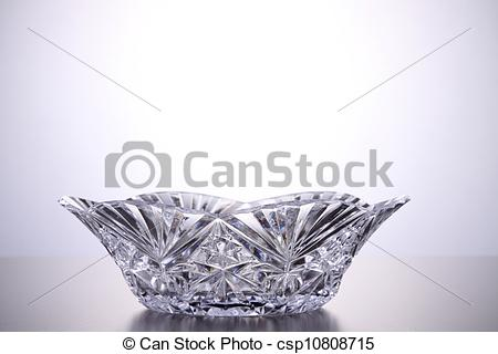 Stock Photography of crystal bowl.