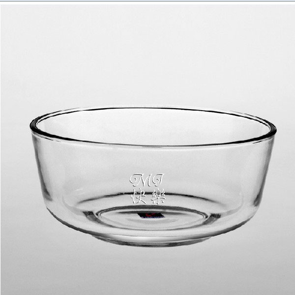 Personalized Engraved Glass Salad Bowl :.