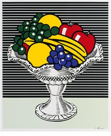 Still life with crystal bowl by Roy Lichtenstein on artnet.