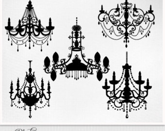 Crystal chandelier clipart clipground chandelier clip art aloadofball Image collections