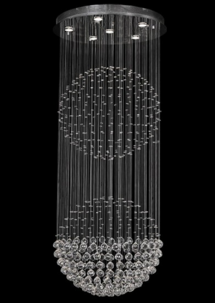 DOUBLE BALL CRYSTAL CHANDELIER.