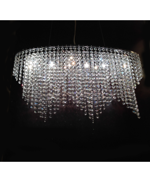 TRIANGLE PENDANT CRYSTAL CHANDELIER.