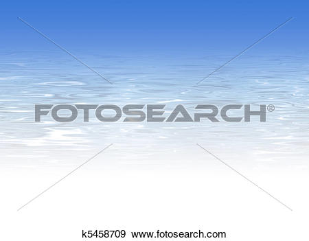 Stock Illustration of Blue crystal clear water background k5458709.