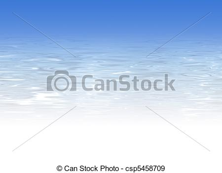 Stock Illustration of Blue crystal clear water background.
