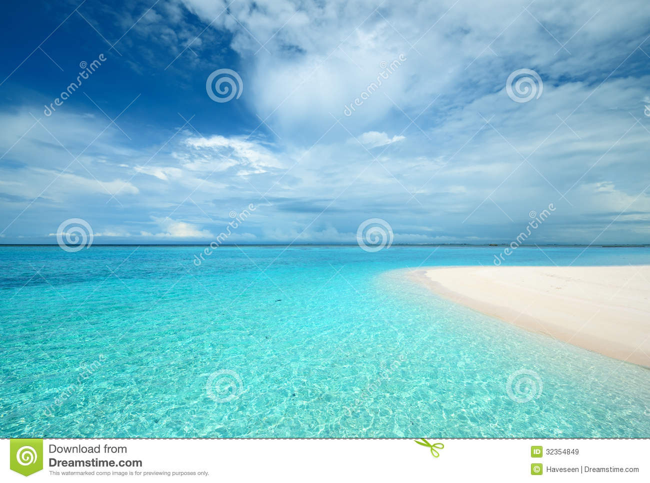 Crystal Clear Turquoise Water At Tropical Beach Royalty Free Stock.
