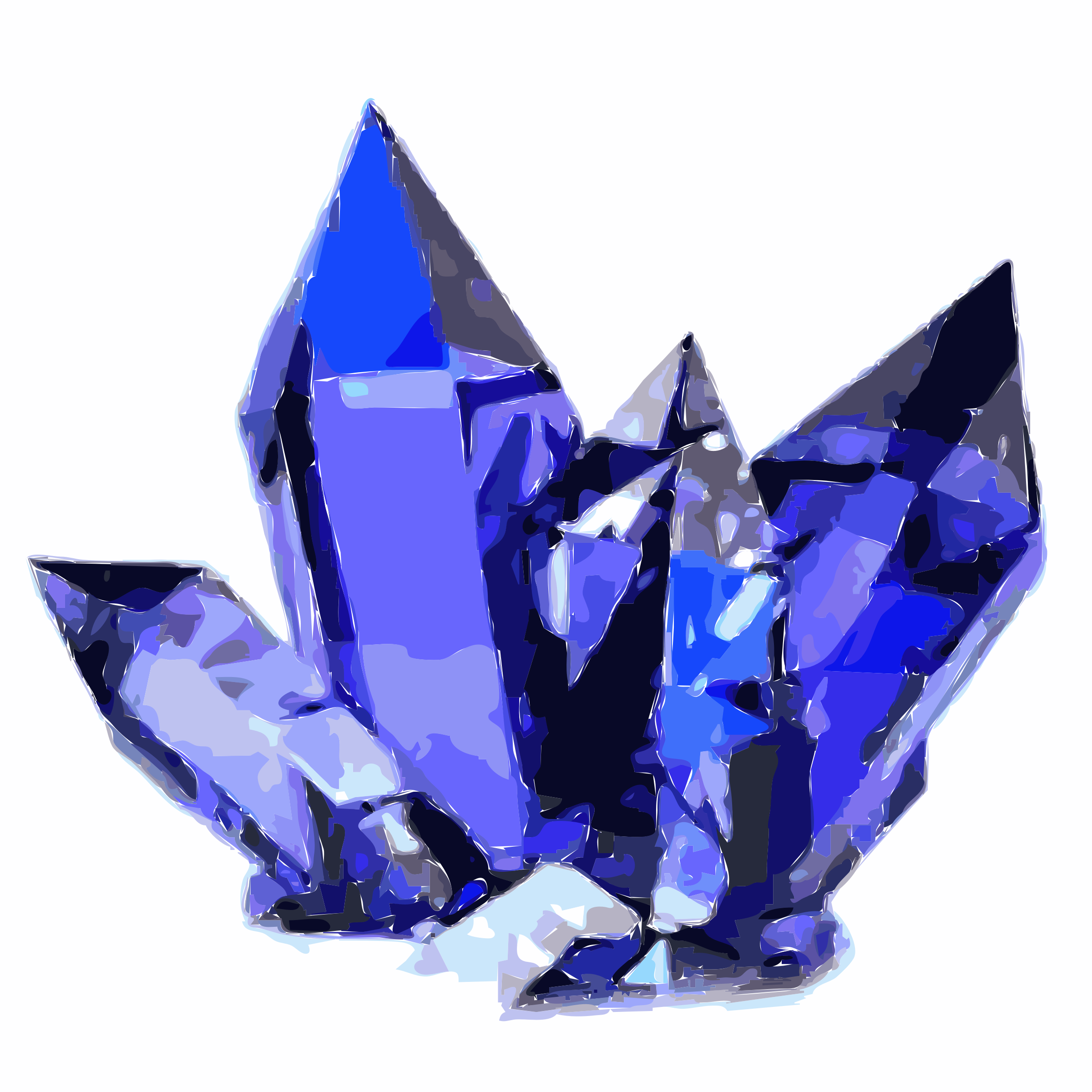 Blue Crystals Vector Clipart image.