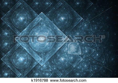 Stock Illustration of Crystal Formation Abstract k1916788.