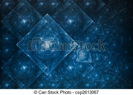 Stock Illustrations of Crystal Formation Abstract.