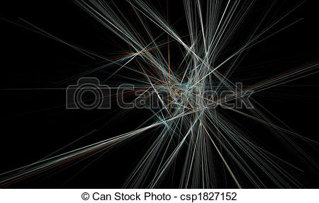 Clip Art of Spiky Crystal Formation.