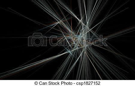 Clip Art of Spiky Crystal Formation.