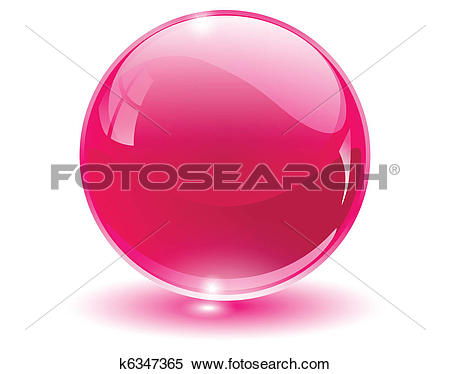Clipart of 3D crystal, glass sphere k6347365.
