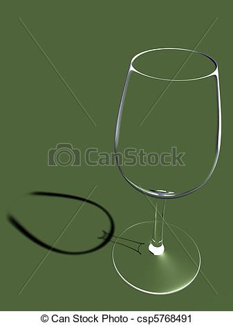 Clipart of Empty crystal glass.
