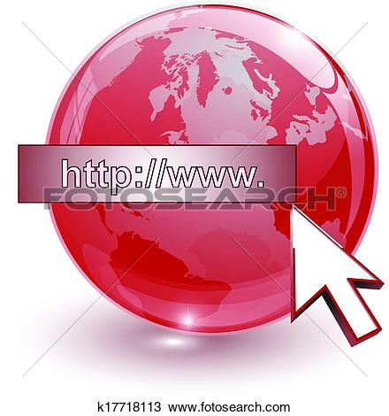 Clipart of crystal glass ball for globus k17718113.
