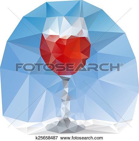 Clip Art of crystal glass k25658487.