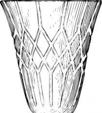 Crystal glass symbol vector set.