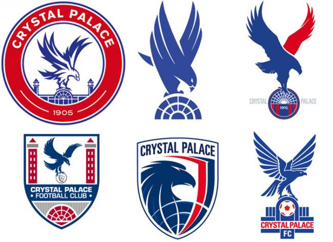Crystal Palace reveal possible new badge designs.