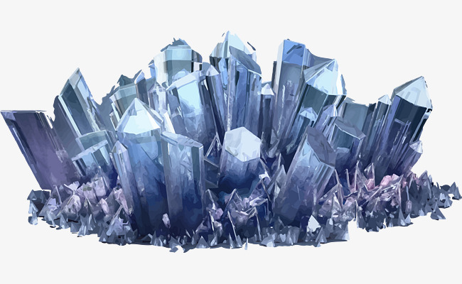 A Stack Of Crystals, Blue Colored Crystal, Crystal Substance.