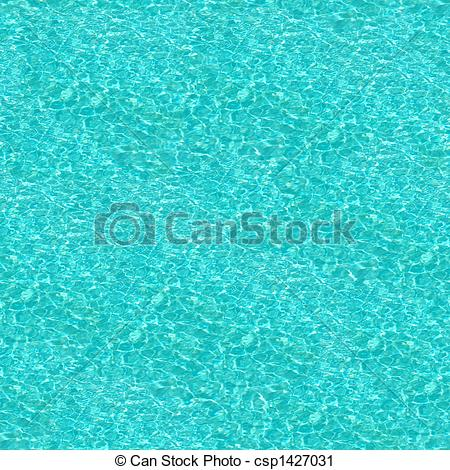 Clipart of Crystal Blue Swimming Pool Water Seamless Pattern.