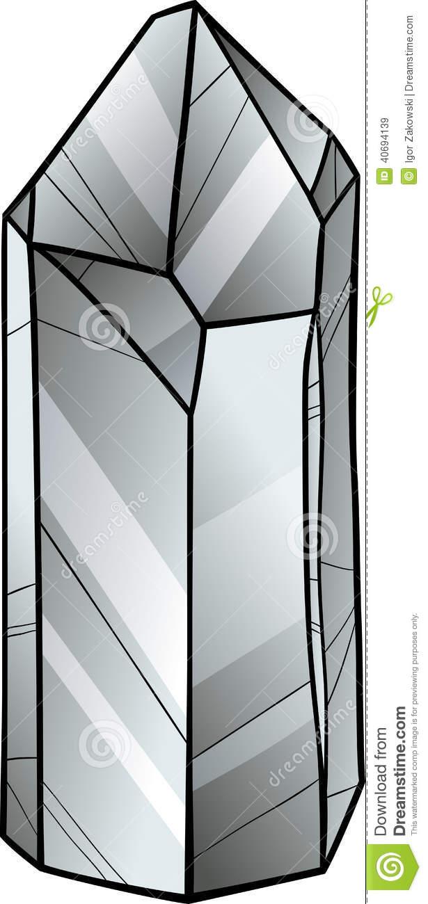 Rose Quartz Crystal Clipart.
