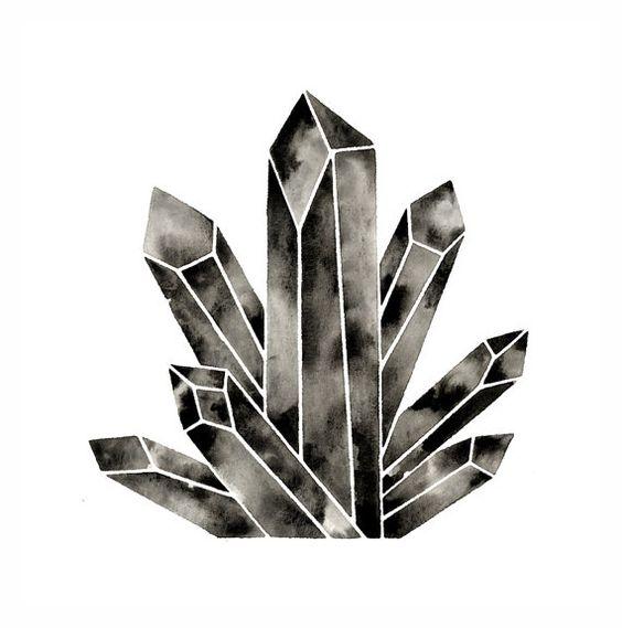 Modern Crystal Print Geometric Watercolor Diamond Art Print.
