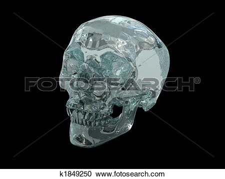 Stock Illustrations of 3D Crystal Skull k1849250.