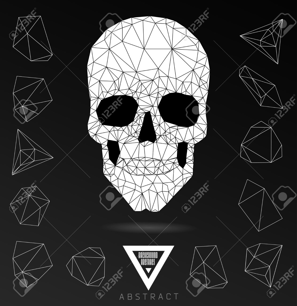 Gothic skull clipart.
