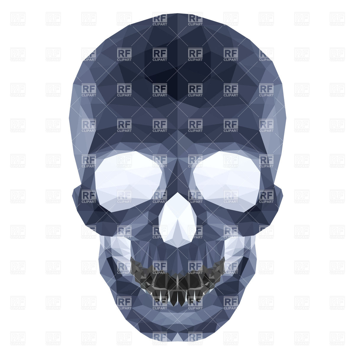 dDrk crystal skull on white background Vector Image #32322.