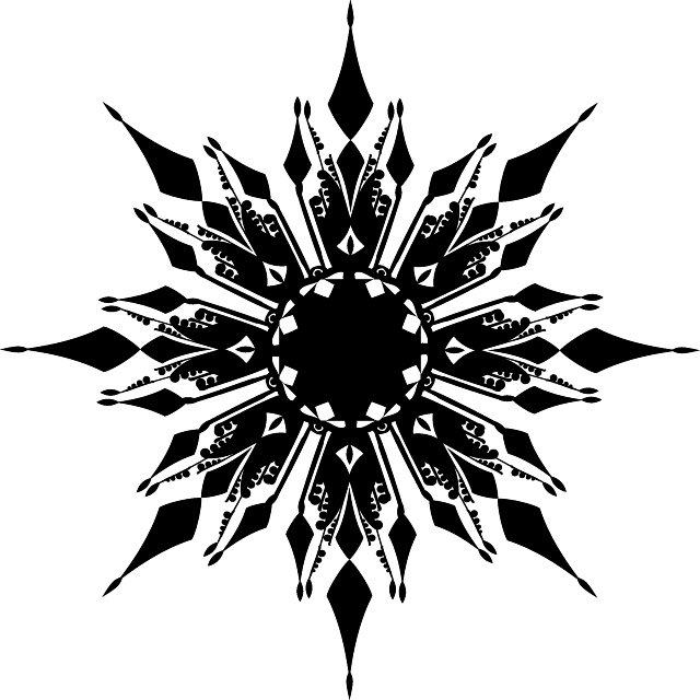 Free Vector Snowflakes Illustrator and Photoshop Shapes.