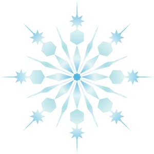 Crystal Snowflakes Clipart.