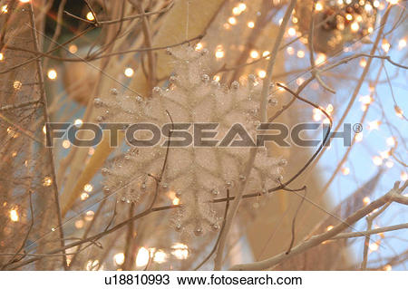 Stock Photo of christmas, crystallization, lighting, background.