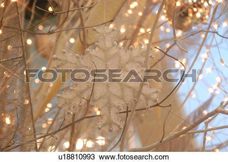 Stock Photo of christmas, crystallization, lighting, background.