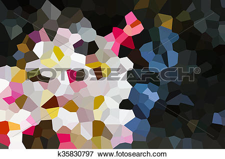 Stock Illustration of Colourful crystallize abstract colour and.