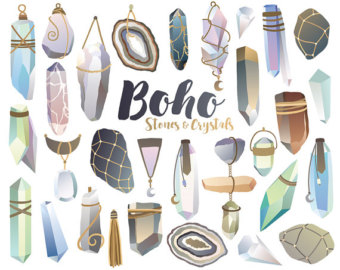 Crystals Diamonds and Minerals Clipart 29 300 by KennaSatoDesigns.