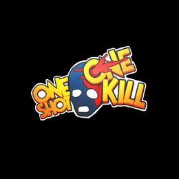 One Shot One Kill Sticker.