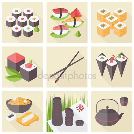 Japán sushi csemege élelmiszer.