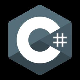C sharp Logo Icon of Flat style.